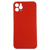 Чохол Anyland Carbon Ultra thin для Apple iPhone 11 Pro Max Red, фото 1