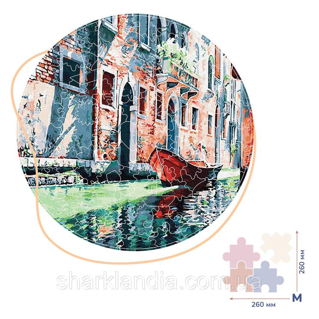 Деревянные пазлы Гондола на канале Венеции (Размер M) Brushme Оригинальный подарок другу начальнику ребенку
