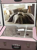 Комплект постельного белья с вязаным покрывалом First Choice Nirvana Excellent Vizon