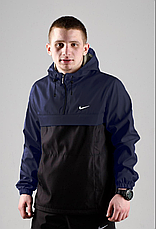 Размеры S-3XL | Мужская куртка анорак Nike Blue Синий, фото 2