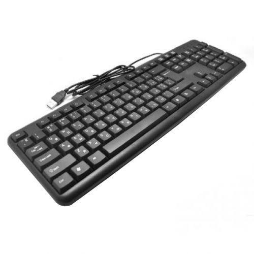 Класична USB клавіатура для ПК, UKC KEYBOARD X1 K107 Розмір: 440x 136x 20 мм