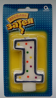 "Детские свечи на торт ""1"""