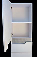 Пенал для ванной комнаты Симпл-Металлик 40-11 левый (вставка металлик) ПИК, фото 3