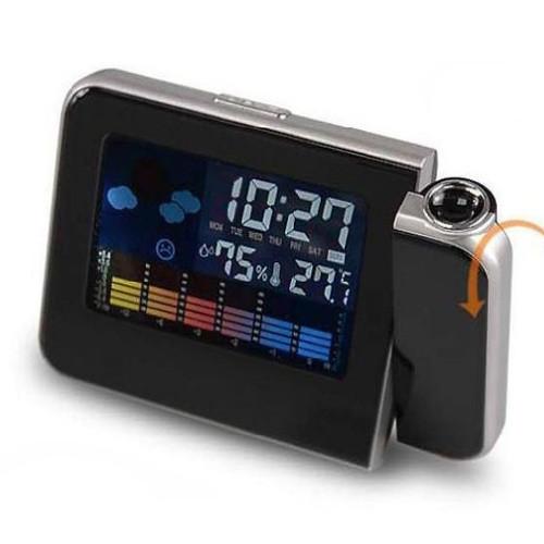 Настільні годинник з проектором часу Метеостанция 8190 працює від батарейок