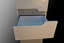 Пенал для ванной комнаты Симпл-Металлик 40-11 левый (вставка металлик) ПИК, фото 2