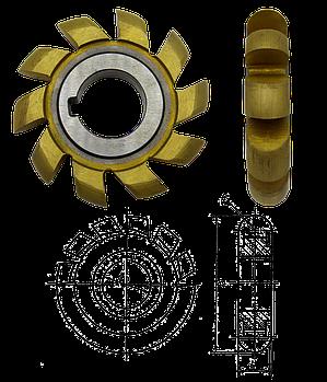 Фреза напівкругла випукла д.50 R2,5 Р6М5