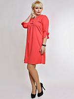 Платье женское Коралловое с бантиками ботал