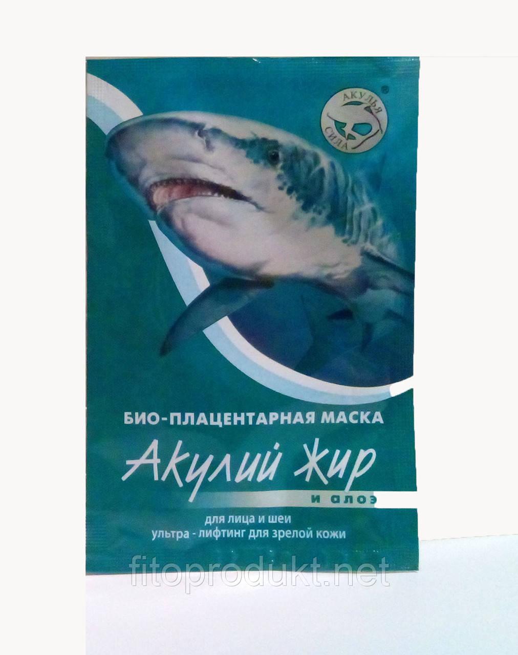 Маска акулий жир и алоэ для зрелой кожи лица замедляет старение 10 мл Лучикс