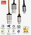 Кабель Promate linkMate-LTF Lightning-USB 1.2 м  Silver, фото 3