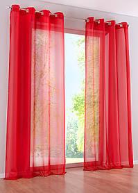 Декоративные шторки из шифона, на люверсах (Красные)