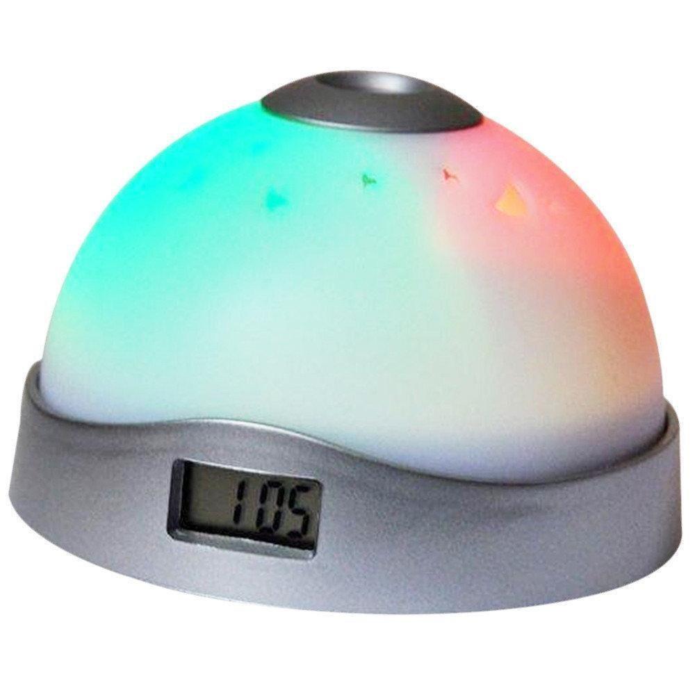 Настольный часы электронные будильник с проектором времени светильник ночник Ночное небо 2091
