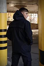 """Розміри S-3XL   Чоловіча куртка анорак Intruder """"Walkman"""" Black Чорний, фото 3"""