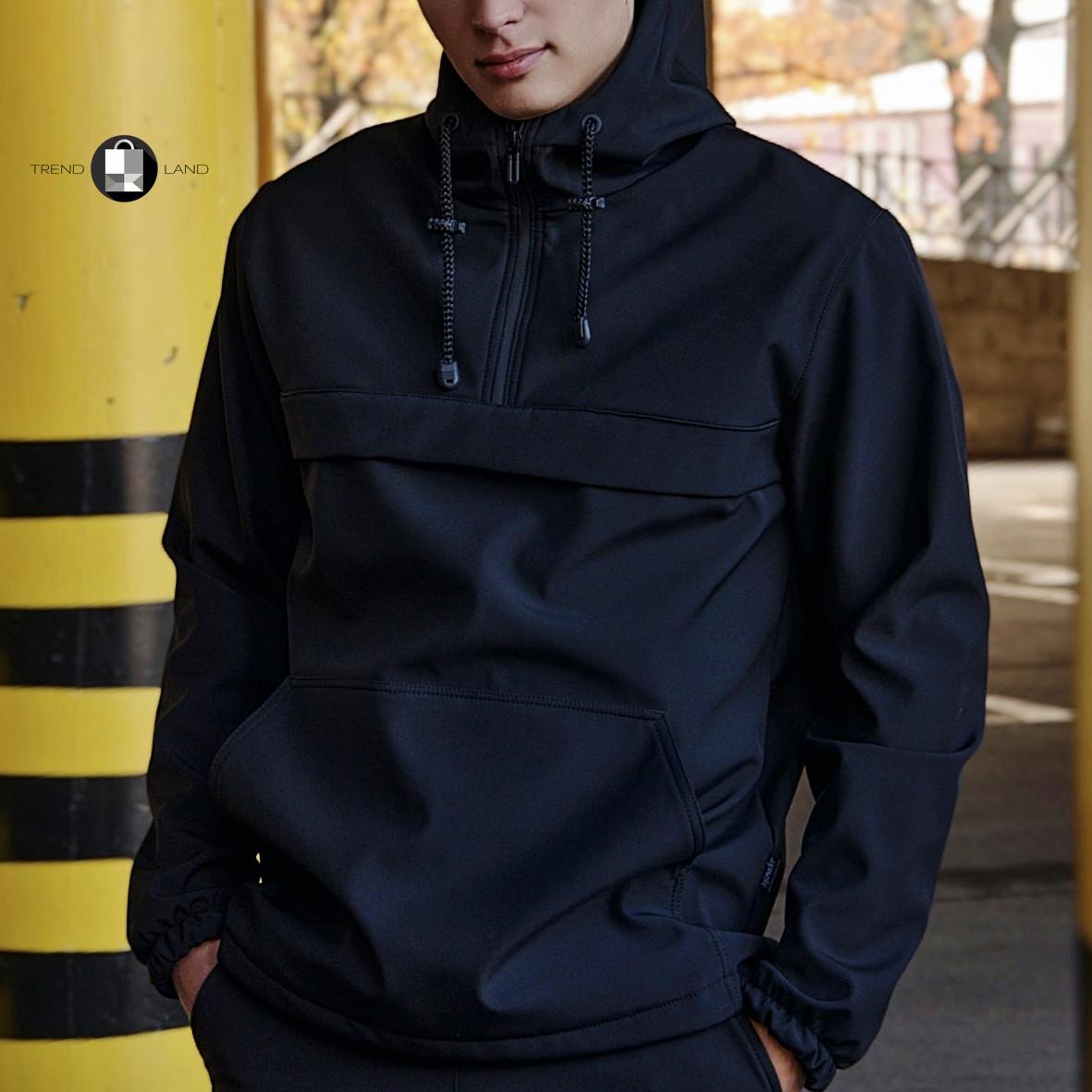 """Розміри S-3XL   Чоловіча куртка анорак Intruder """"Walkman"""" Black Чорний"""
