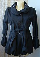 Пальто женское легкое демисезонное акрил шерсть Италия р.46 5021