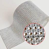 Пластиковая сетка Сrystal 24рядов(ширина 11см).Цена за 4ряда страз(отрезок 11х2см)
