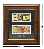 Панно ''USA + Euro'' (Доллар + Евро) золото 32*34.5 см Гранд Презент ГП601818