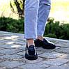 Молодежные черные кожаные женские туфли натуральная кожа низкий ход 36-23 / 38-24,5 / 40-25,5см, фото 4