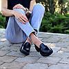 Молодежные черные кожаные женские туфли натуральная кожа низкий ход 36-23 / 38-24,5 / 40-25,5см, фото 2
