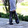 Высокие кожаные черные женские ботинки натуральная кожа на флисе удобный каблук, фото 3