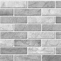 Пластикова Листова Декоративна Стінова 3д Панель ПВХ Пластмаркет Цегла Димчата в зал коридор кухню