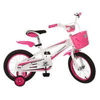 Велосипед Профи RB 14 дюймов розовый Profi велосипед двухколесный