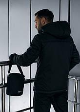 Размеры S-2XL | Мужская утепленная куртка анорак Nike Black Черный, фото 3