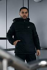 Размеры S-2XL | Мужская утепленная куртка анорак Nike Black Черный, фото 2