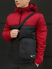 Размеры S-2XL   Мужская утепленная куртка анорак Nike Red\Black, фото 3