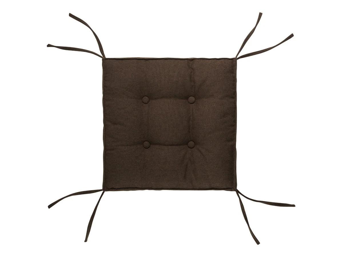 Подушка на стул CAPITONE AQUA коричневая 40х40х6 см