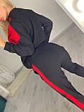 Женский спортивный костюм, украшен апликациями из камней (Турция); Размер:С,М,Л,ХЛ (полномерные), фото 4