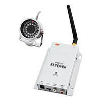 Видеонаблюдение беспроводное — радиокамера 211+802: передача видео/звука, IR-подсветка, прямая видимость 50м