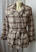Пальто женское модное клетчатое демисезонное хлопок бренд Next р.48 5024