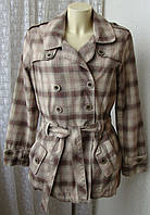 Пальто женское модное клетчатое демисезонное хлопок бренд Next р.48 5024, фото 1
