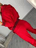 Жіночий спортивний трикотажний костюм, (Туреччина); Розміри:50,52,54,56 (наші повномірні) Колір: чорний, червоний., фото 4