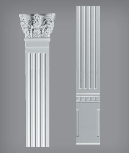 Пилястра в сборе 313*11,5 см из пенополистирола EL01P - Элементы декора и отделочные материалы в Киеве