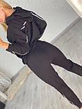 Женский спортивный трикотажный костюм, (Турция); Размеры:С,М,Л,ХЛ (полномерные) Цвета: черный,беж,хаки., фото 3