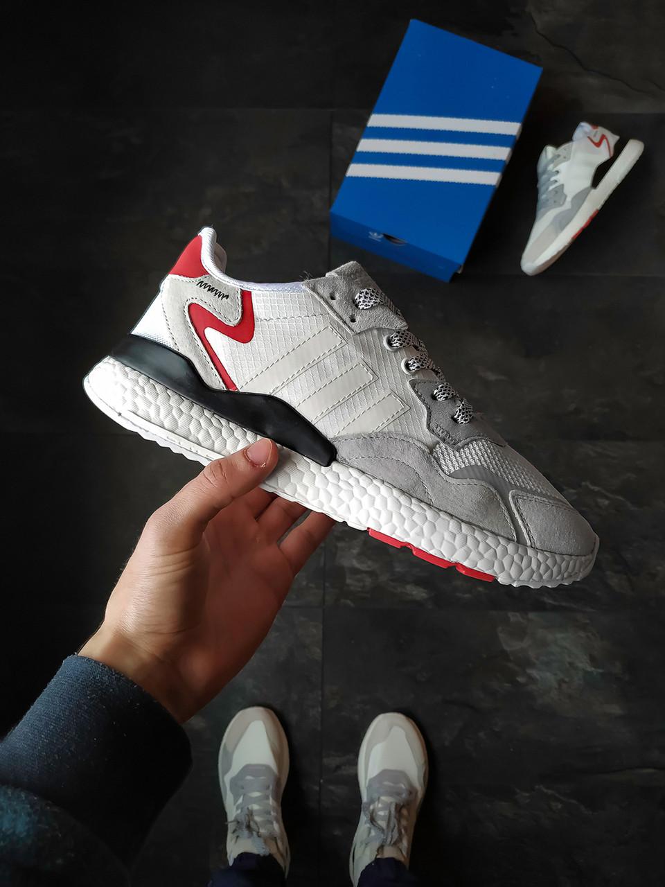 Мужские кроссовки Adidas Nite Jogger серые рефлективные