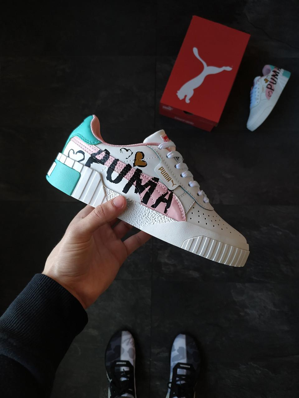 Женские кроссовки Puma Cali White Graffiti Letter Board