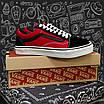 Мужские кеды Vans Old Skool All Black/Red, фото 8