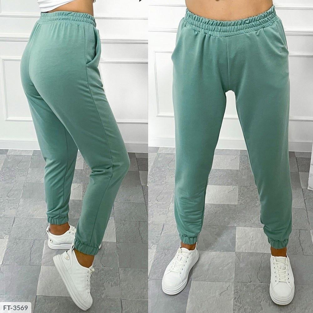 Спортивні штани жіночі однотонні легкі зручні спортивки р-ри 42-48 арт.2057/1