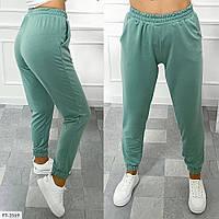 Спортивні штани жіночі однотонні легкі зручні спортивки р-ри 42-48 арт.2057/1, фото 1