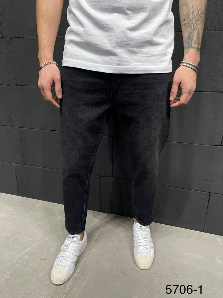 Чоловічі джинси МОМ чорного кольору ( чорні ) , молодіжні бойфренди прямі Туреччина