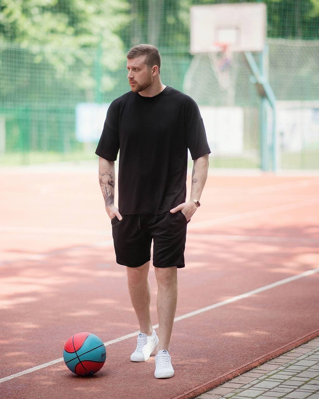 Футболка оверсайз мужская Dekka Asos OverSlim, Мужская футболка черная свободного кроя хлопковая ЛЮКС качества