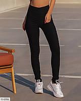 Джеггинсы женские облегающие черные джинсовые лосины завышенная талия р-ры  42-46 арт. 207, фото 1
