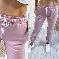 Удобные женские спортивные штаны из двунитки с карманами на осень р-ры 42-48 арт. 1357