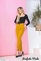 Стильные брюки женские классические с высокой посадкой в деловом стиле р-ры 42-46 арт. 230