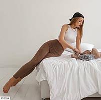 Замшевые лосины женские облегающие по фигуре с высокой талией р-ры 42-48 арт.  7764/7773