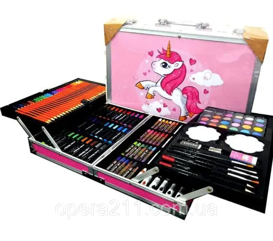 Набір для малювання -- 145 предметів (Рожевий Поні) (6шт)