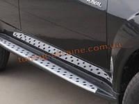 Боковые пороги оригинал в BMW Style Great Wall Hover H3