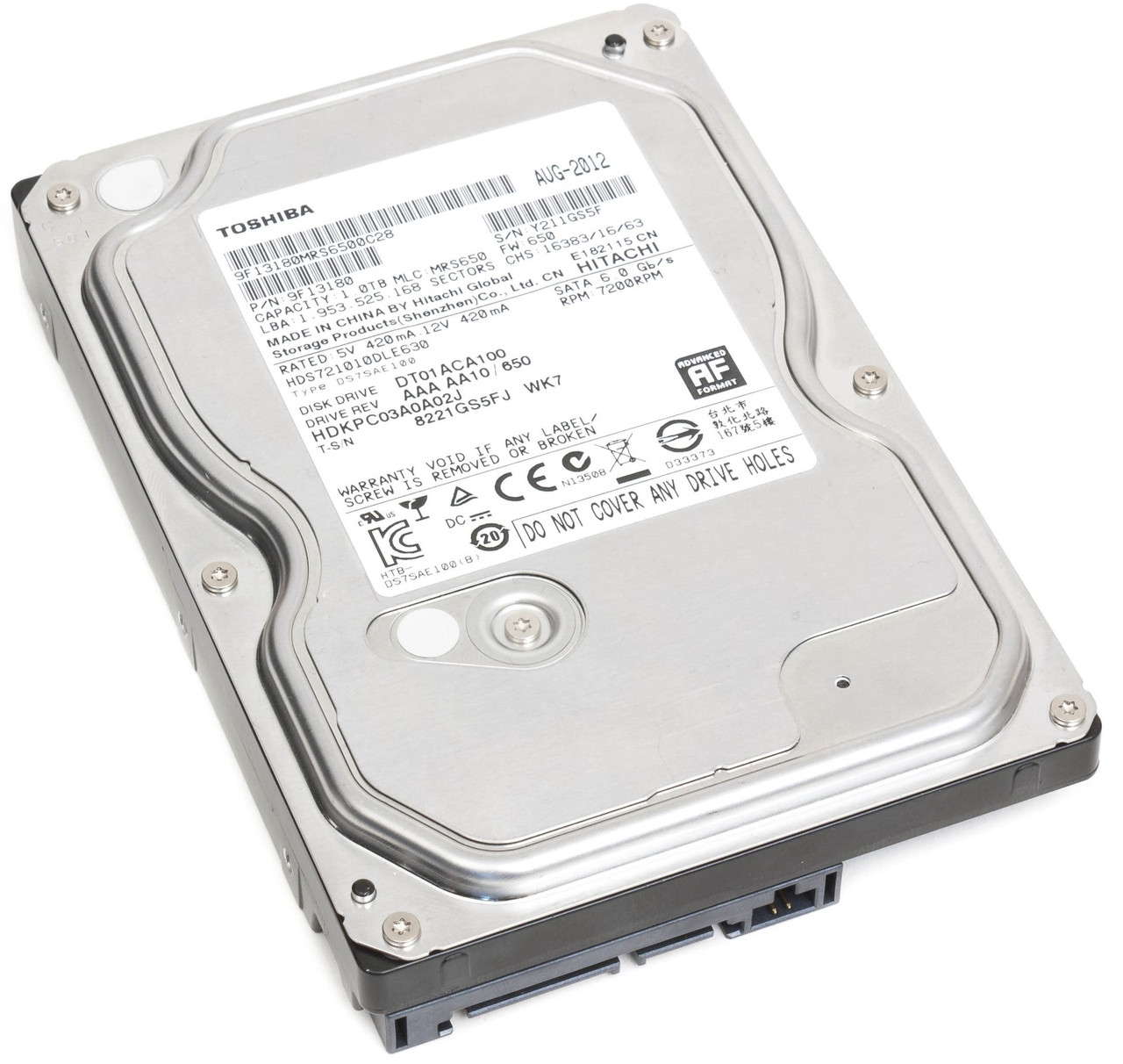 Жесткий диск HDD  1TB TOSHIBA DT01ACA100